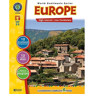 Classroom Complete Press World Continents Series Europe Resource Book, Grades 5 - 8