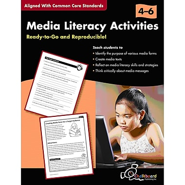 Chalkboard Publishing Media Literacy Activities Resource Book, Grade 4 - 6
