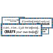 Crystal Productions Art Motivation Display Card, Grade Preschool - 9