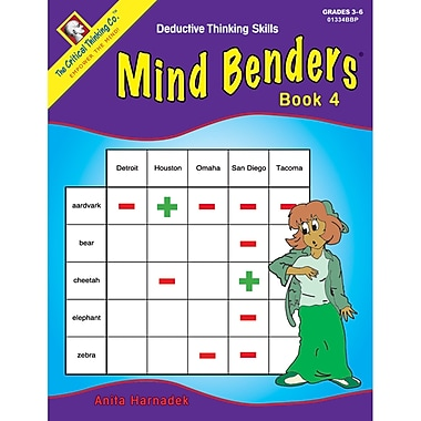 Critical Thinking Press™ Mind Benders Book 4 Deductive Thinking Skills Book, 3 - 6 Grade
