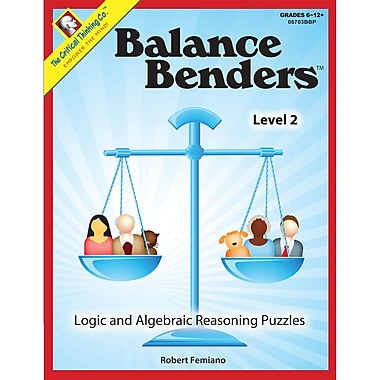 The Critical Thinking Co™ Balance Benders™ Level 2 Book, Grades 6 - 12