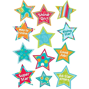 Creative Teaching Press® Stickers, Dots On Turquoise Stars