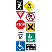 "Creative Teaching Press CTP5987 10"" Jumbo Designer Street Signs Cut-Outs, Assorted"