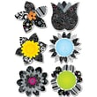 Creative Teaching Press® 10in. Jumbo Designer Cut-Outs, BW Flowers