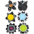 Creative Teaching Press® 6in. Designer Cut-Outs, BW Flowers