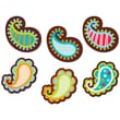 """Creative Teaching Press® 6"""" Designer Cut-Outs, Paisley On Brown"""