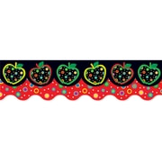 """Creative Teaching Press 6587 52.5"""" Scalloped Apples & Dots Perfect Pairs Border Set, Multicolor"""