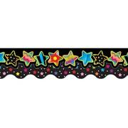 "Creative Teaching Press 6588 52.5"" Scalloped Stars Perfect Pairs Border Set, Multicolor"