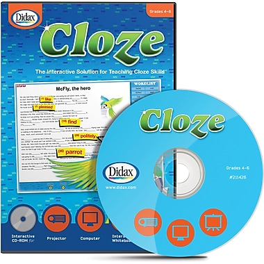 Didax Cloze Interactive CD, Grades 4 - 6