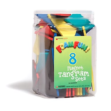 Dowling Magnets Foam Fun Magnet Tangrams