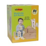 Edushape® Wood Like Soft Blocks, 80/Set