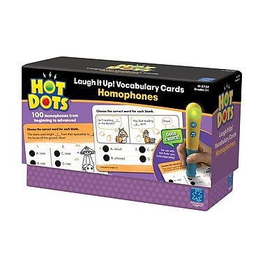 Educational Insights® Hot Dots® Laugh it Up Homophones Vocabulary Development Card