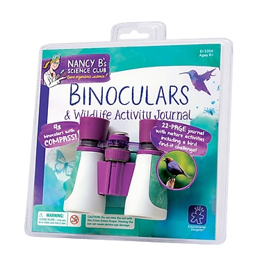 Educational Insights® Nancy B's Science Club Binoculars And Wildlife Activity Journal