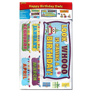 Edupress® Bulletin Board Set, Happy Birthday Owls