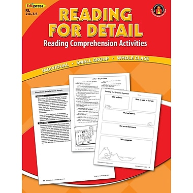 Edupress® Reading For Detail Reading Comprehension Book, Red Level