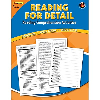 Edupress® Reading For Detail Reading Comprehension Book, Blue Level