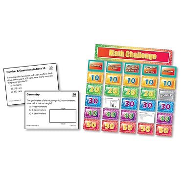Edupress® Math Pocket Chart Games, Grade 3