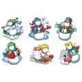 Edupress® 6in. x 8in. MyFace Bulletin Board Accents, Snowmen
