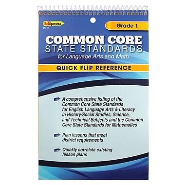 Edupress® Common Core Standards F/Language Arts & Math Quick Flip Reference, Grade 1