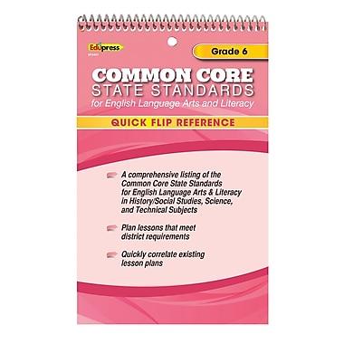 Edupress® Common Core Standards F/English Language Arts & Literacy Quick Flip Reference, Grade 6