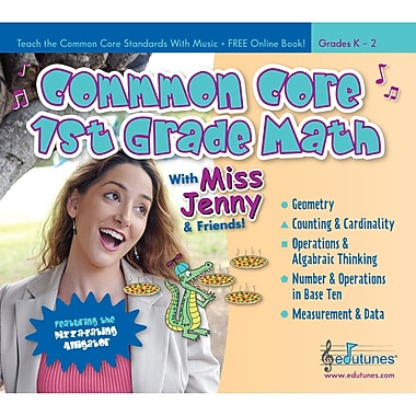 Edutunes® Common Core 1 Grade Math CD Book Set