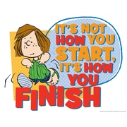 "Eureka® 17"" x 22"" Peanuts®""How You Finish"" Poster"