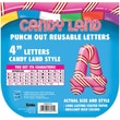 Eureka® Candy Land™ 4in. Peppermint Stripes Deco Letters, Pink