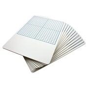 "Flipside 1/2"" Graph Dry Erase Board, 11"" x 16"""