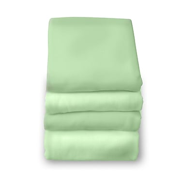Foundations® SafeFit™ Cotton Compact/Portable Elastic Fitted Sheet, Mint
