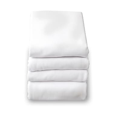 Foundations® SafeFit™ Cotton Compact/Portable Elastic Fitted Sheet, White
