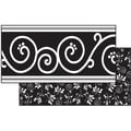 Frog Street Decor Double Sided Border, Black