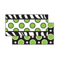 Frog Street Zebra Green Dot Double Sided Border, Black/Green