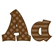 Frog Street 5 Sassy Solids Letters, Brown