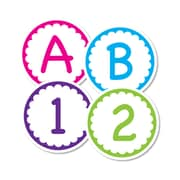 Frog Street 3 1/2 Scallop Circle Letters, Multicolor