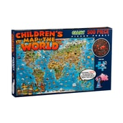 Round World Products Dinos Childrens Illustrated Jigsaw Puzzle, World Map