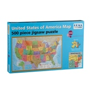 Round World Products Illustrated Jigsaw Puzzle, United States Map