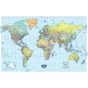 """House Of Doolittle™ Laminated World Map, 50"""" x 33"""""""