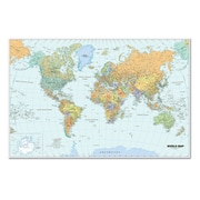 "House Of Doolittle™ Laminated World Map, 38"" x 25"""