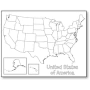 Hygloss 30147 USA Map Poster