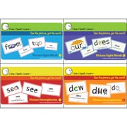 I See, I Spell, I Learn® Super Combo Flash Cards, Picture Sight Word And Homophones