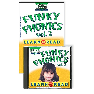 Sara Jordan Publishing™ Funky Phonics® Learn to Read Volume 2 CD and Book