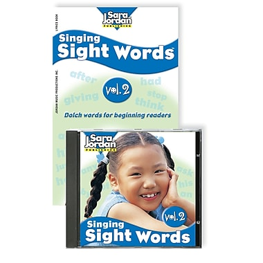 Sara Jordan Publishing™ Singing Sight Words Volume 2 CD and Book