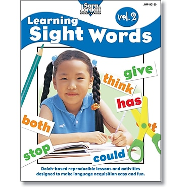 Sara Jordan Publishing™ Learning Sight Words Volume 2 Book