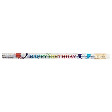 J.R. Moon Jumbo Happy Birthday Glitz Pencil, 72/Pack