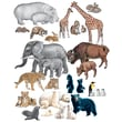 Little Folk Visuals Wild Animals Flannelboard Set, 14/Set