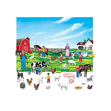 Little Folk Visuals 6in. Figures Farm Flannelboard Set With Unmounted Background, 43/Set