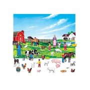 "Little Folk Visuals 6"" Figures Farm Flannelboard Set With Unmounted Background, 43/Set"