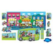 Little Folk Visuals Wheels On The Bus Flannelboard Set, 11/Set