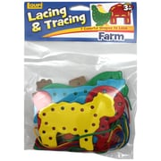 "Patch Products LR-2579 27"" Lacing and Tracing Farm Educational Toy, Assorted"