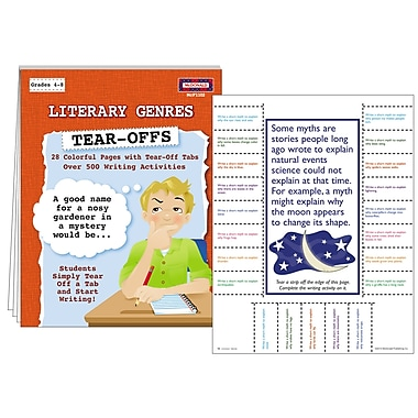 McDonald Publishing Literary Genres Tear Offs Activity Book, Grade 4 - 9
